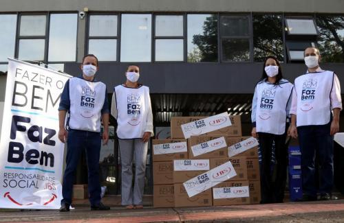 Doação alimentos e equipamentos (JBS) - Foto: Emerson Dias