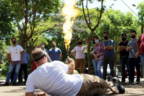 06.11.2020 - Voluntários brigadistas da Prefeitura têm aula prática sobre prevenção de incêndios - Foto: Emerson Dias
