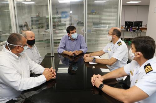 Reunião com oficiais da Marinha do Brasil - Fotos Vivian Honorato
