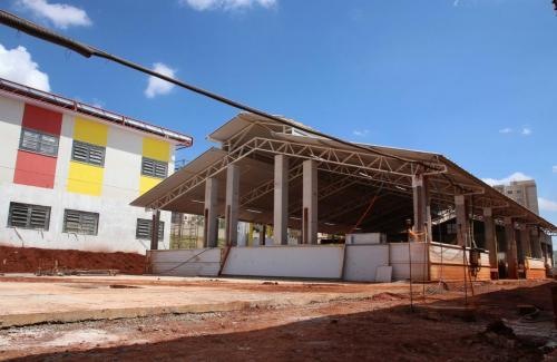 08.04.21 Escola em obras e novo Centro de Educação Infantil (CEI) Aquaville. Foto: Emerson Dias
