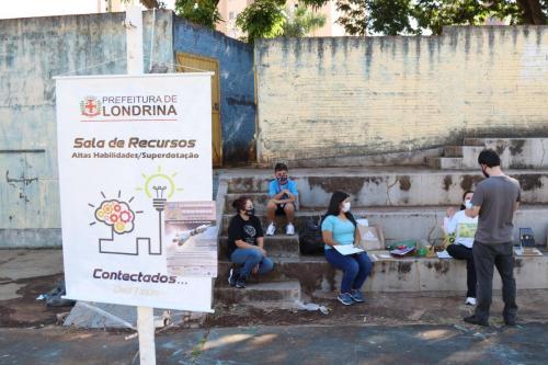 19.05.21 Estudantes na Mostra de Foguetes da Olimpíada Brasileira de Astronomia (OBA). Foto: Emerson Dias