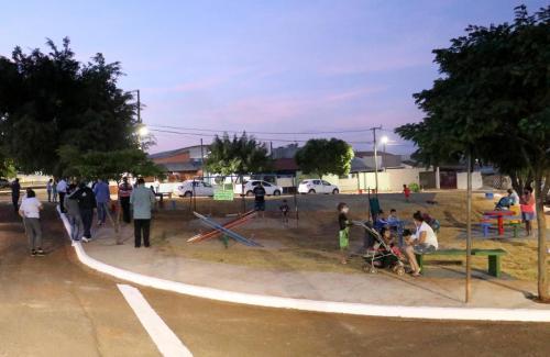 Entrega Praça Jardim São Jorge - Foto: Emerson Dias