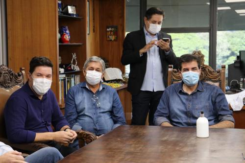 25.06.2021 Visita do secretário-chefe da Casa Civil, Guto Silva - Fotos Vivian Honorato